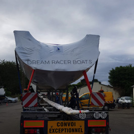 DREAM RACER BOATS turnkey-boat-transport-yacht-thermo-tarpaulin-delivering-service Home
