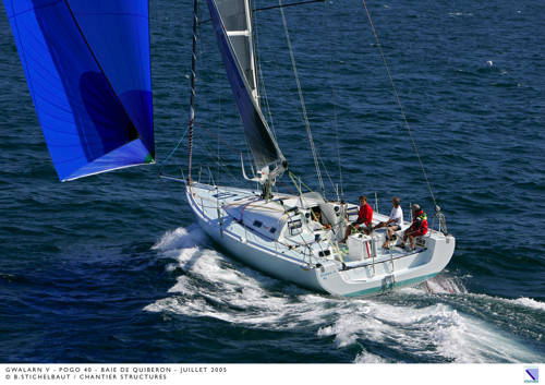 DREAM RACER BOATS Photo-by-B.-Stichelbaut-for-POGO-Structures-shipyard-july-2005 Class 40 : performance and long distance cruising Featured News